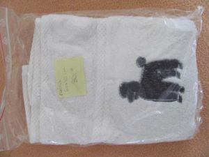 Hand Towel with poodl