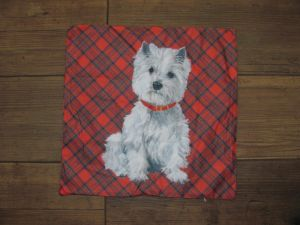 Pillow cover westie dog