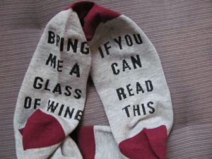 Socks for wine lover