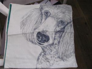 Pillow cover dog - poodle