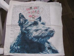 Pillow cover dog -  scottie dog