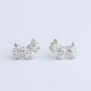 Earrings with dog- scottie dog - westie dog
