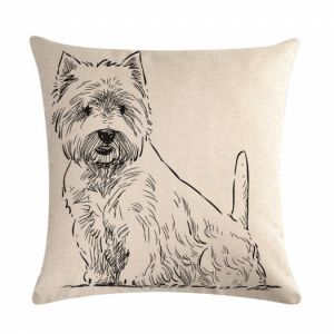Pillow cover - westie dog