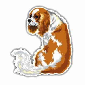 King Charles Spaniel Dog Car Decoration Car Sticker