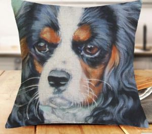 Pillow cover with Cavalier King Charles Spaniel Dog