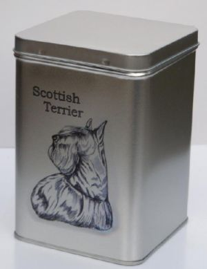 Tin scottie dog