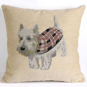 Cushion cover westie